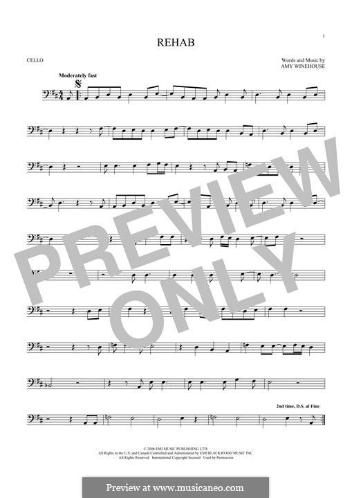 Rehab: para violoncelo by Amy Winehouse