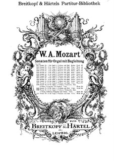 Church Sonata for Two Violins, Organ and Basso Continuo No.15 in C Major, K.328 (317c): Partitura completa by Wolfgang Amadeus Mozart