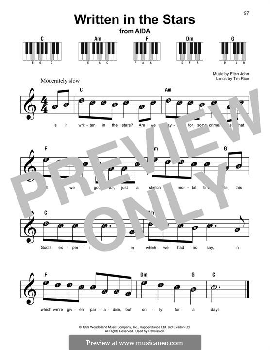 Written in the Stars: melodia by Elton John