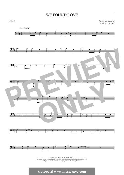 We Found Love: para violoncelo by Calvin Harris