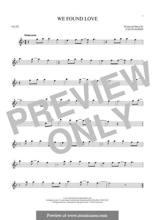We Found Love: para flauta by Calvin Harris