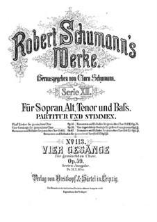 Four Songs, Op.59: quatro musicas by Robert Schumann