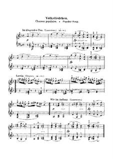 No.9 Volksliedchen (Folk Song): Para Piano by Robert Schumann