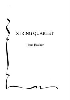 String Quartet: Quarteto de cordas by Hans Bakker