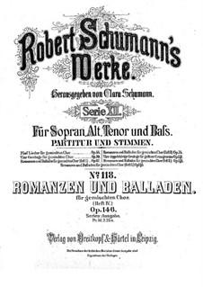 Romances and Ballades, Op.146: Romances and Ballades by Robert Schumann
