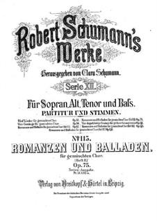 Romances and Ballades, Op.75: set completo by Robert Schumann