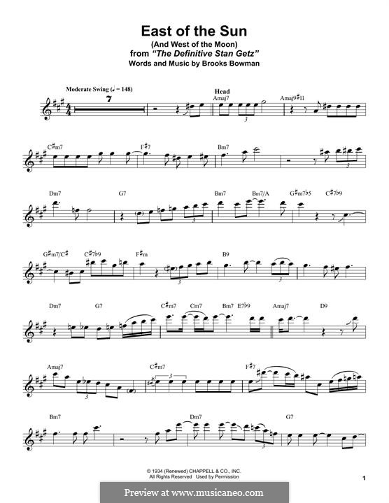 East of the Sun (And West of the Moon): para saxofone tenor by Brooks Bowman