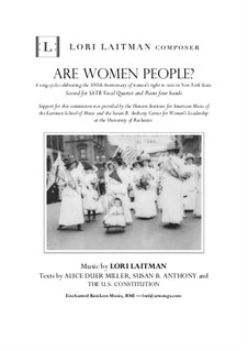 Are Women People?: Priced for 11 copies of the score by Lori Laitman