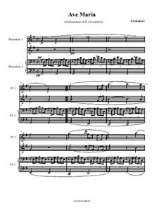 Ave Maria, D.839 Op.52 No.6: para piano de quadro mãos by Franz Schubert
