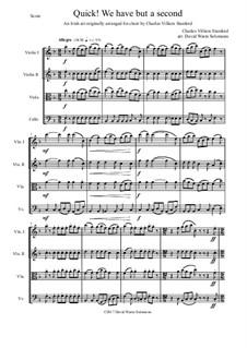 Quick we have but a second: para quartetos de cordas by Charles Villiers Stanford, folklore