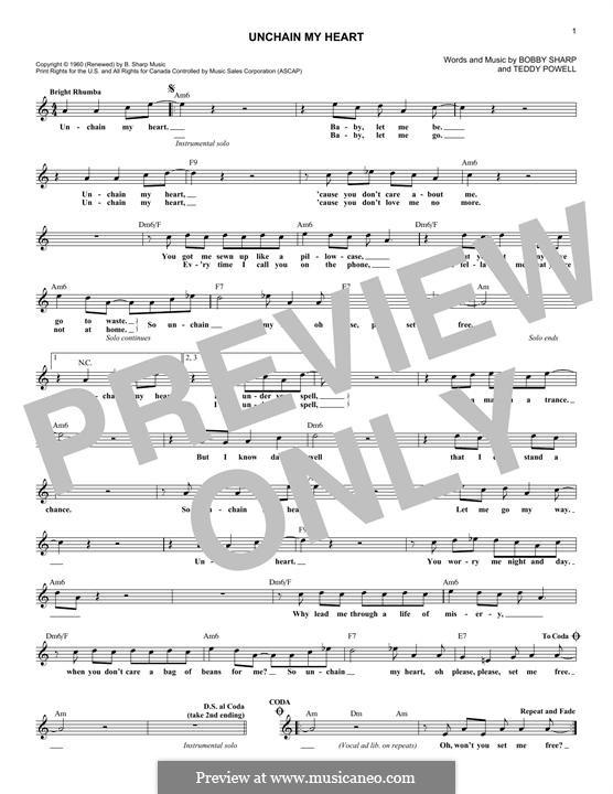 Unchain My Heart (Ray Charles): melodia by Bobby Sharp, Teddy Powell