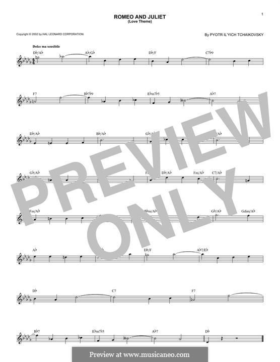 Love Theme: melodia by Pyotr Tchaikovsky