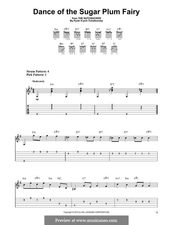 No.3 Dance of the Sugar-Plum Fairy: Para Guitarra by Pyotr Tchaikovsky
