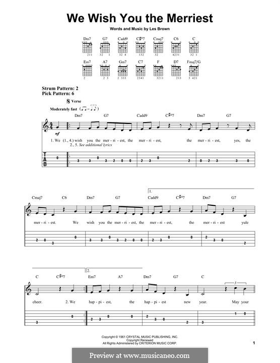 We Wish You the Merriest (Frank Sinatra): Para guitarra com guia by Lester Brown
