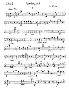 Symphony No.1 in C Major: Oboe parte I by Georges Bizet