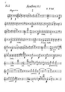 Symphony No.1 in C Major: Oboe parte II by Georges Bizet