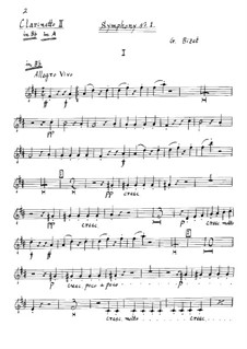 Symphony No.1 in C Major: clarinete parte II by Georges Bizet