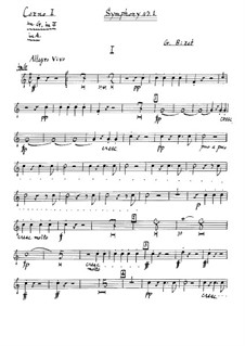 Symphony No.1 in C Major: trompa parte I by Georges Bizet