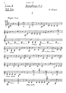Symphony No.1 in C Major: trompa parte II by Georges Bizet