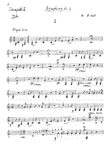 Symphony No.1 in C Major: Trompete II parte by Georges Bizet