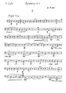Symphony No.1 in C Major: parte violoncelo by Georges Bizet