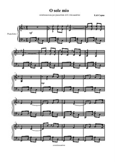 O Sole Mio: Para Piano by Eduardo di Capua