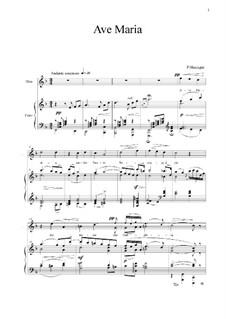 Ave Maria: Para vocais e piano by Pietro Mascagni