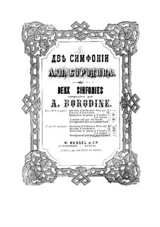 Symphony No.2 in B Minor: dois pianos de quatro mãos by Alexander Borodin