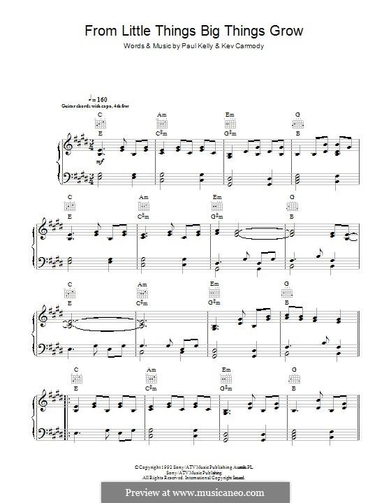 From Little Things Big Things Grow: Para vocais e piano (ou Guitarra) by Kev Carmody
