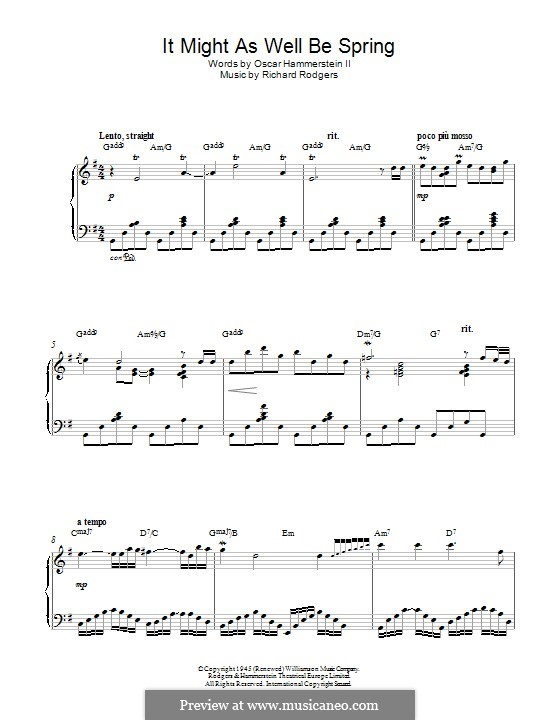It Might as Well Be Spring: Para Piano by Richard Rodgers