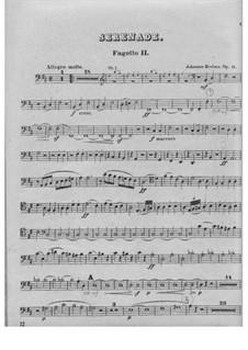 Serenade No.1 in D Major, Op.11: fagote parte II by Johannes Brahms