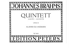 Piano Quintet in F Minor, Op.34: Versio for piano four hands by Johannes Brahms