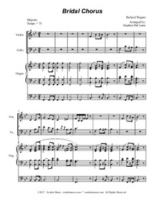 Bridal Chorus: Duet for violin and cello - organ accompaniment by Richard Wagner