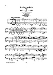 Complete set: Version for two pianos eight hands by Johannes Brahms
