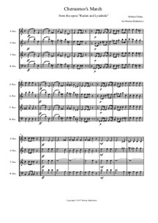 March of Chernomor: Para quarteto gravado by Mikhail Glinka