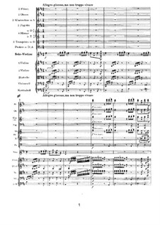 Concerto for Violin and Orchestra in D Major, Op.77: movimento III by Johannes Brahms