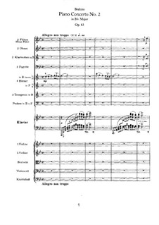 Concerto for Piano and Orchestra No.2 in B Flat Major, Op.83: movimento I by Johannes Brahms