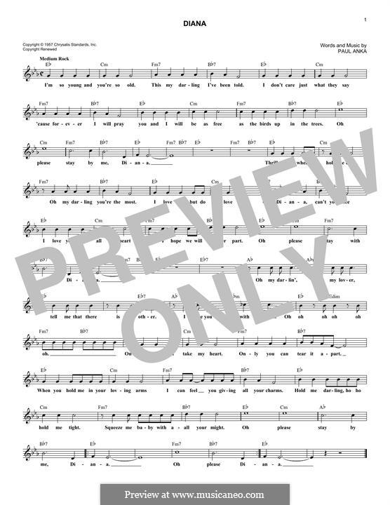 Diana: melodia by Paul Anka