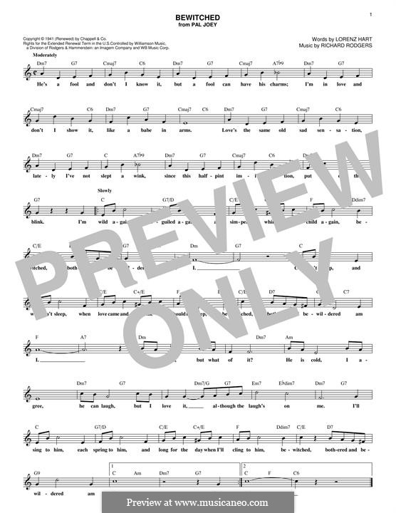 Bewitched (The Betty Smith Group): melodia by Richard Rodgers