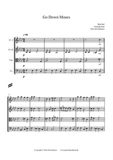 Go Down Moses: For string quartett by folklore