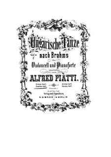 No.6-10: para Violoncelo e piano by Johannes Brahms