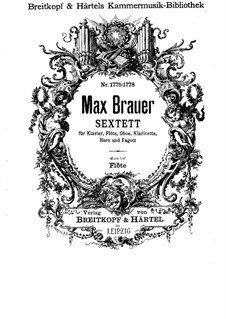 Sextet for Piano and Winds: partes by Max Brauer