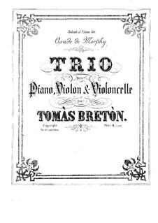 Piano Trio in E Major: partitura completa by Tomás Bretón