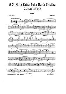 String Quartet in D Major: parte violinos by Tomás Bretón