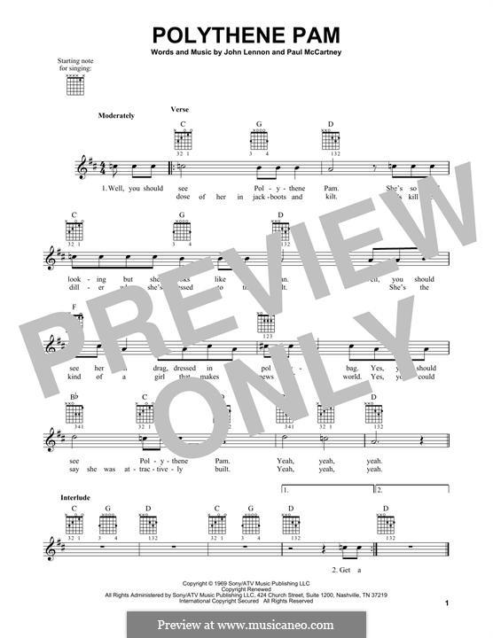 Polythene Pam (The Beatles): Para guitarra com guia by John Lennon, Paul McCartney