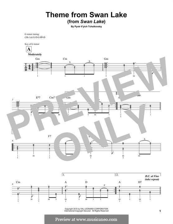 No.14 Scène: Arrangement for banjo by Pyotr Tchaikovsky