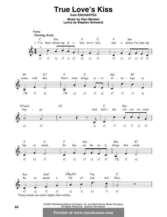 True Love's Kiss: For harmonica by Alan Menken