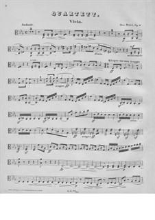 String Quartet No.1 in C Minor, Op.9: parte viola by Max Bruch
