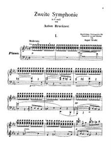 Symphony No.2 in C Minor, WAB 102: arranjo para piano by Anton Bruckner