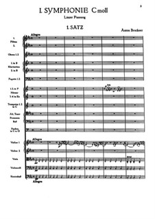 Symphony No.1 in C Minor, WAB 101: movimento I by Anton Bruckner